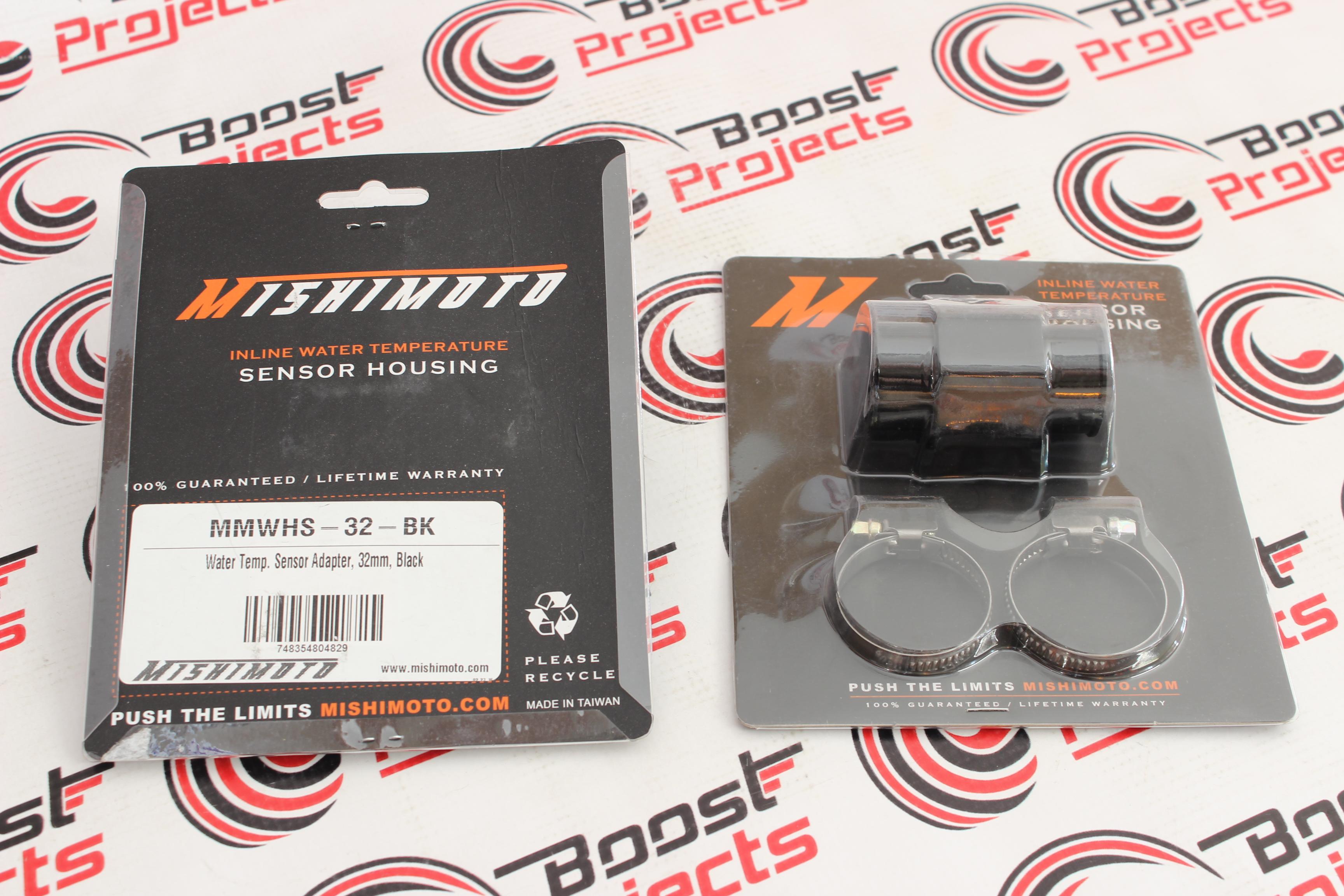 34mm Universal Mishimoto MMWHS-34-BK Water Temperature Sensor Adapter