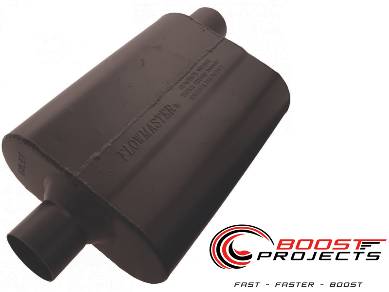 2.50 Dual Out 2.50 Center In Flowmaster Universal Super 44 Muffler