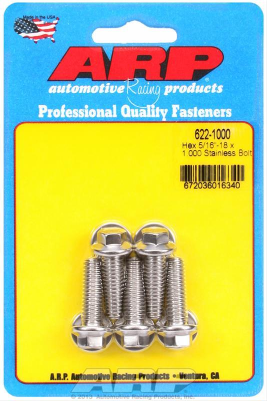 ARP 622-1000 5//16-18 x 1.000 hex SS bolts